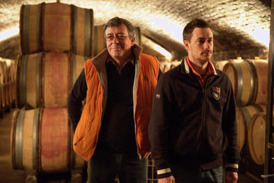 Philippe Girard and Son Arnaud at Home in Savigny Cellars