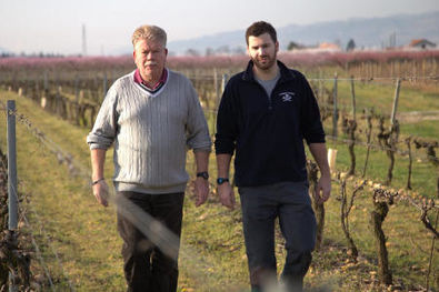 Philippe and Vincent Jaboulet at their Domaine