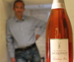 Jean-Manuel Jacquinot and Bottle of Champagne Rose