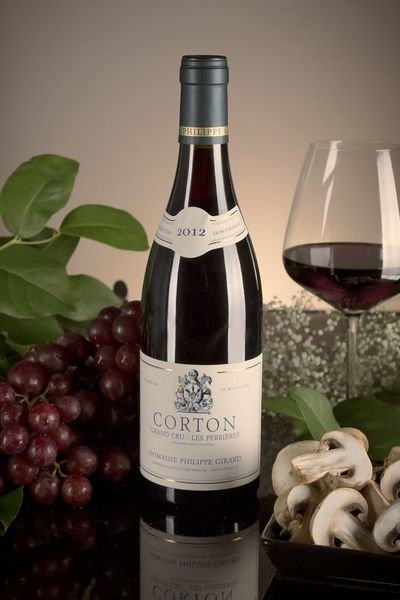 French Red Burgundy Wine, Domaine Philippe Girard 2012 Corton Perrieres