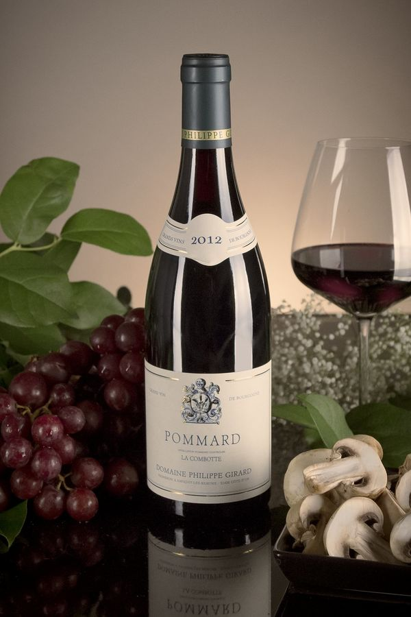 French Red Burgundy Wine, Domaine Philippe Girard 2012 Pommard La Combotte