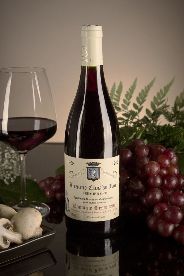 French Red Burgundy Wine, Domaine Besancenot 1998 Beaune Premier Cru Clos du Roi