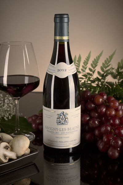 French Red Burgundy Wine, Domaine Philippe Girard 2012 Savigny-les-Beaune Premier Cru Les Narbantons