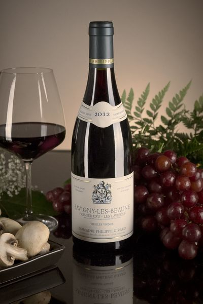 French Red Burgundy Wine, Domaine Philippe Girard 2012 Savigny-les-Beaune Premier Cru Les Lavières