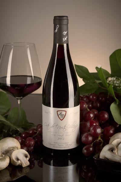 French Red Burgundy Wine, Domaine Xavier Durand 2012 Côte de Nuits Villages