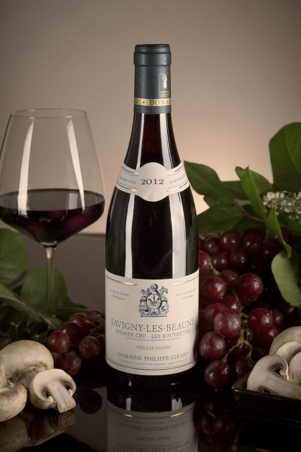 French Red Burgundy Wine, Domaine Philippe Girard 2012 Savigny-les-Beaune Premier Cru Les Rouvrettes