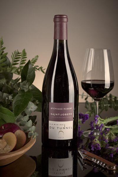 French Red Rhone Wine, Domaine du Tunnel 2012 Saint-Joseph