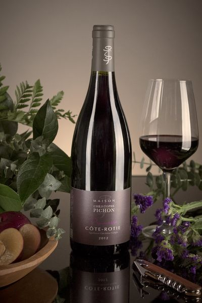 French Red Rhone Wine, Domaine Christophe Pichon 2012 Côte-Rôtie Promesse