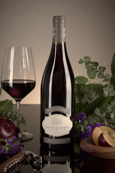 French Red Rhone Wine, Domaine Christophe Pichon 2012 Saint-Joseph