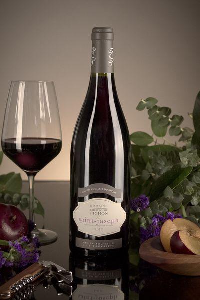 French Red Rhone Wine, Domaine Christophe Pichon 2012 Saint-Joseph