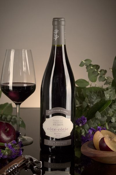 French Red Rhone Wine, Domaine Christophe Pichon 2012 Côte-Rôtie Rozier
