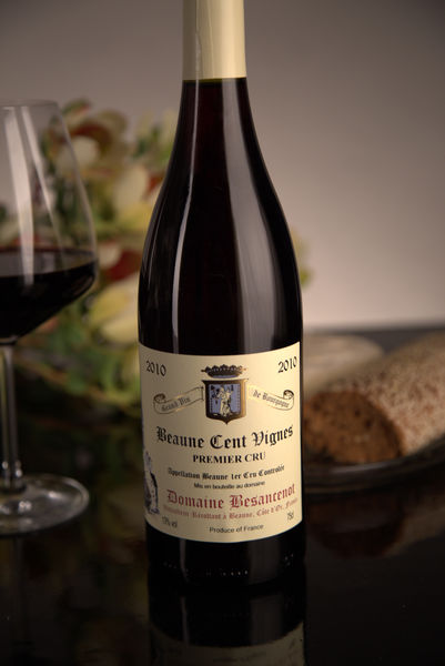 French Red Burgundy Wine, Domaine Besancenot 2010 Beaune Premier Cru Cent Vignes