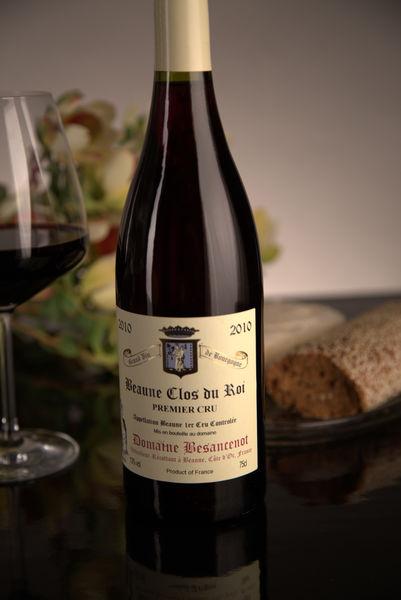 French Red Burgundy Wine, Domaine Besancenot 2010 Beaune Premier Cru Clos du Roi