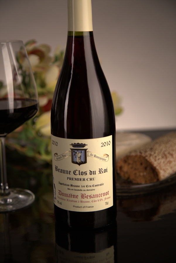 French Red Burgundy Wine, Domaine Besancenot 2010 Beaune Premier Cru Clos du Roi