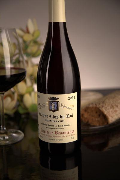 French Red Burgundy Wine, Domaine Besancenot 2011 Beaune Premier Cru Clos du Roi