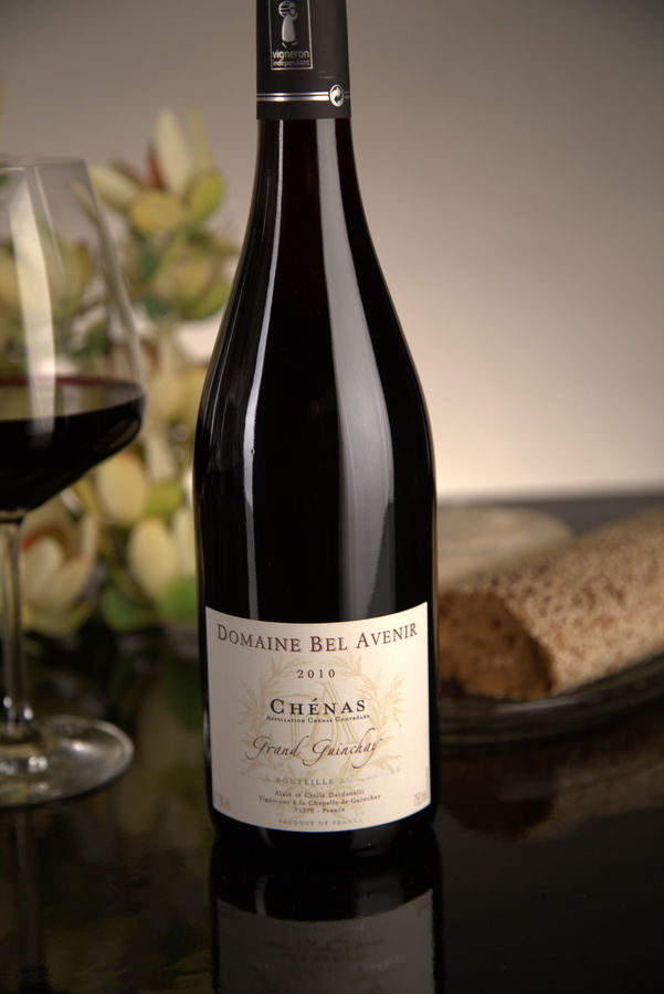 French Red Beaujolais Wine, Domaine Bel Avenir 2010 Chenas Grand Guinchay