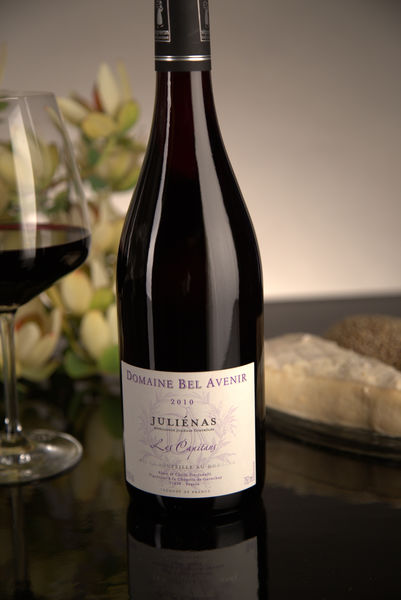 French Red Beaujolais Wine, Domaine Bel Avenir 2010 Juliénas Les Capitans