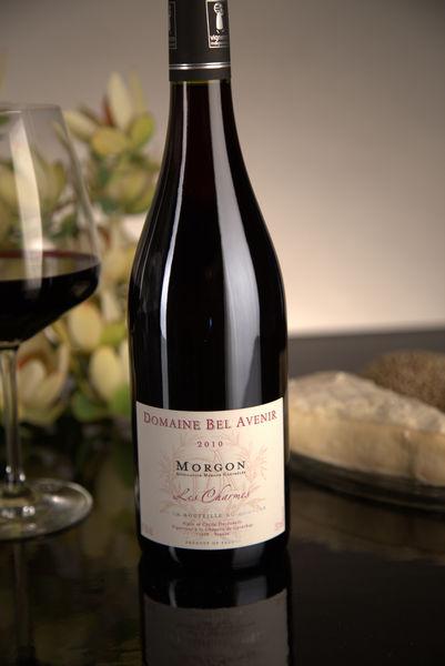 French Red Beaujolais Wine, Domaine Bel Avenir 2010 Morgon Les Charmes