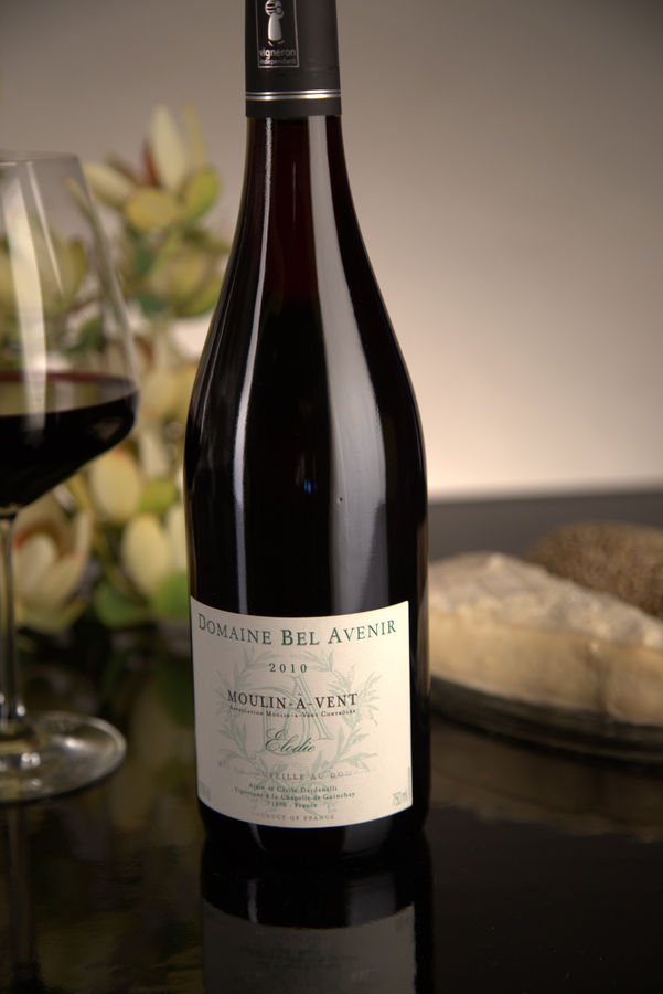 French Red Beaujolais Wine, Domaine Bel Avenir 2010 Moulin-a-Vent Elodie