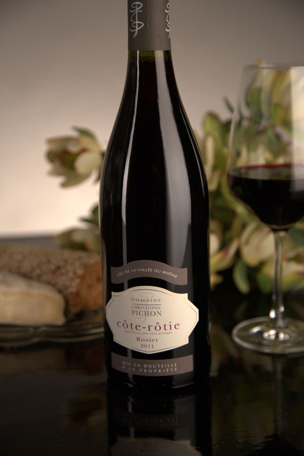 French Red Rhone Wine, Domaine Christophe Pichon 2011 Côte-Rôtie Rozier