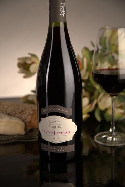 French Red Rhone Wine, Domaine Christophe Pichon 2011 Saint-Joseph