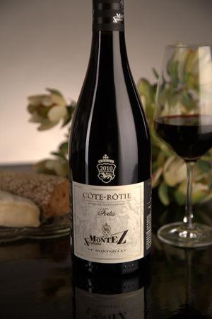 French Red Rhone Wine, Domaine du Monteillet 2010 Côte-Rôtie Fortis
