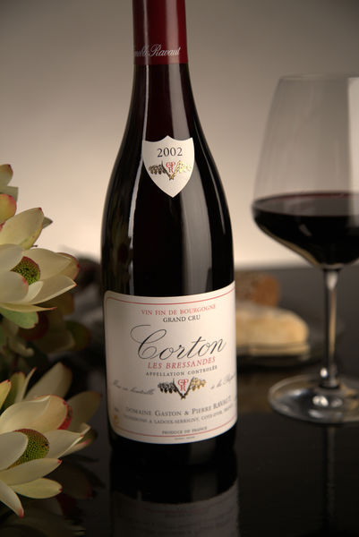 French Red Burgundy Wine, Domaine Gaston & Pierre Ravaut 2002 Corton Bressandes