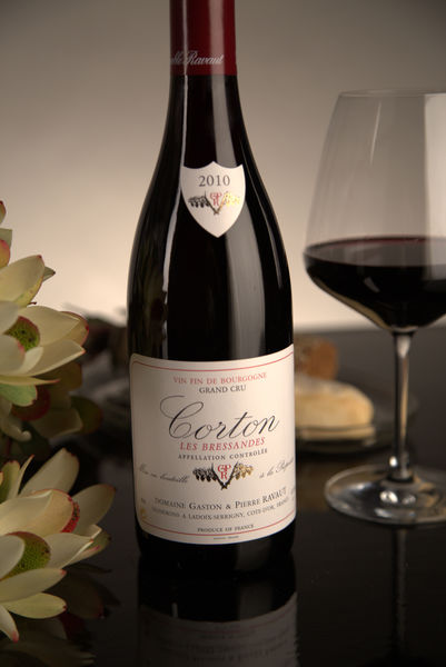 French Red Burgundy Wine, Domaine Gaston & Pierre Ravaut 2010 Corton Bressandes