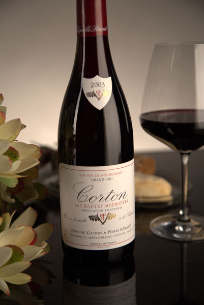 French Red Burgundy Wine, Domaine Gaston & Pierre Ravaut 2003 Corton Hautes Mourottes