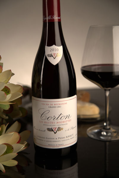 French Red Burgundy Wine, Domaine Gaston & Pierre Ravaut 2010 Corton Hautes Mourottes