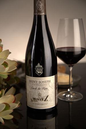 French Red Rhone Wine, Domaine du Monteillet 2010 Saint-Joseph Cuvée Papy
