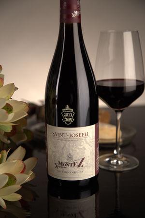 French Red Rhone Wine, Domaine du Monteillet 2011 Saint-Joseph