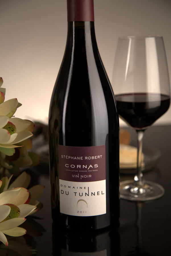 French Red Rhone Wine, Domaine du Tunnel 2011 Cornas Vin Noir