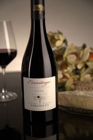 French Red Rhone Wine, Domaine Philippe & Vincent Jaboulet 2009 Ermitage