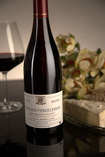 French Red Burgundy Wine, Domaine Pierre Marey et Fils 2011 Pernand-Vergelesses Les Belles Filles