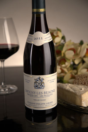 French Red Burgundy Wine, Domaine Philippe Girard 2011 Savigny-les-Beaune Premier Cru Les Peuillets