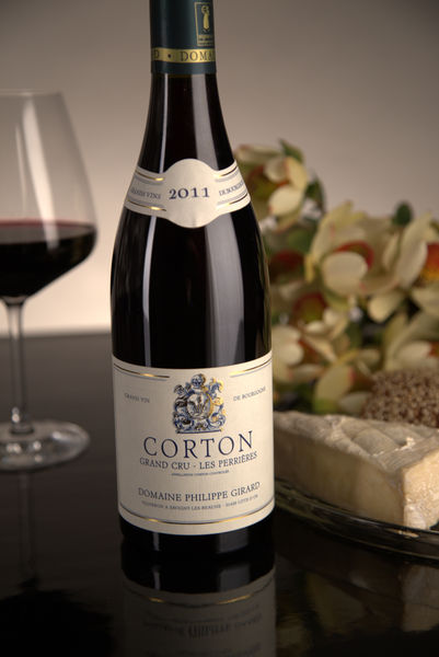 French Red Burgundy Wine, Domaine Philippe Girard 2011 Corton Perrieres