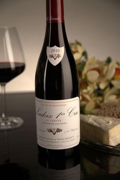 French Red Burgundy Wine, Domaine Gaston & Pierre Ravaut 2010 Ladoix Premier Cru La Corvée