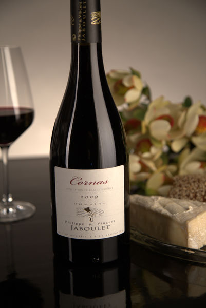 French Red Rhone Wine, Domaine Philippe & Vincent Jaboulet 2009 Cornas
