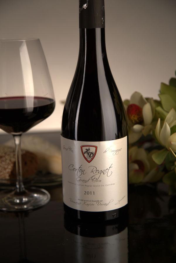 French Red Burgundy Wine, Domaine Xavier Durand 2011 Corton Rognet