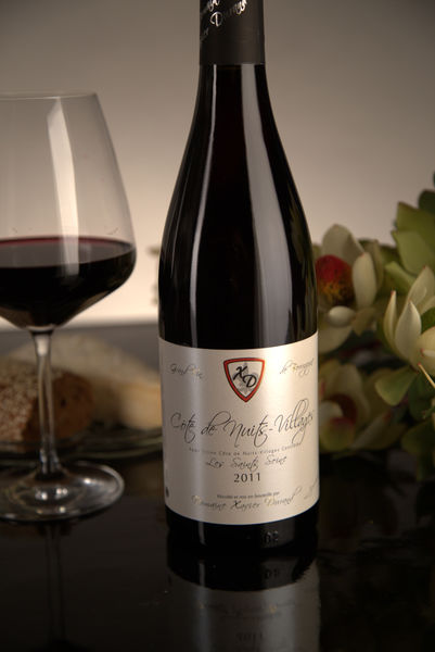 French Red Burgundy Wine, Domaine Xavier Durand 2011 Côte de Nuits Villages