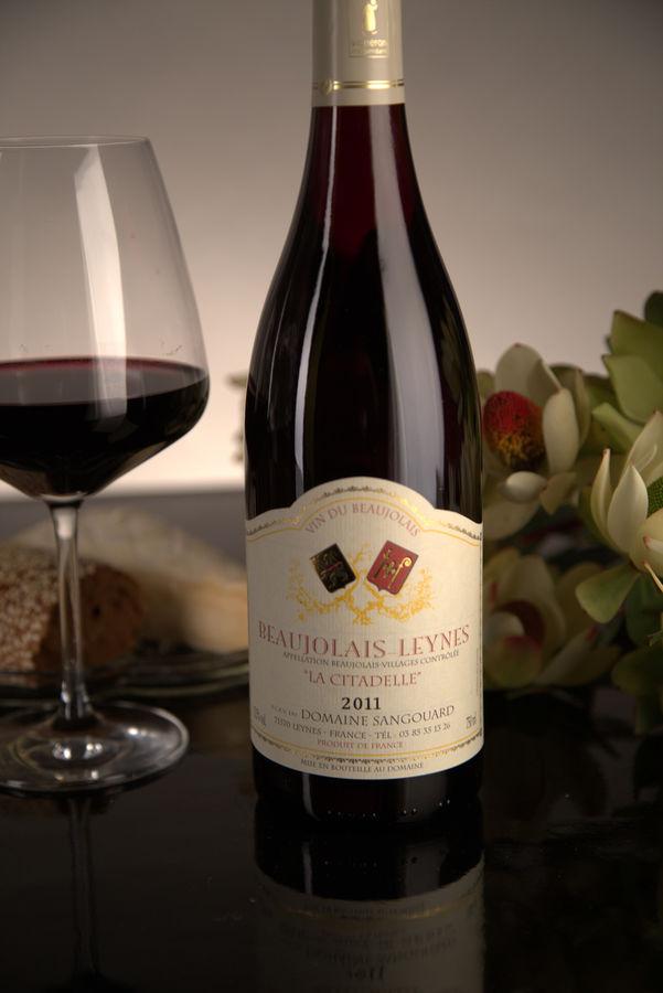 French Red Beaujolais Wine, Domaine Sangouard 2011 Beaujolais-Villages La Citadelle