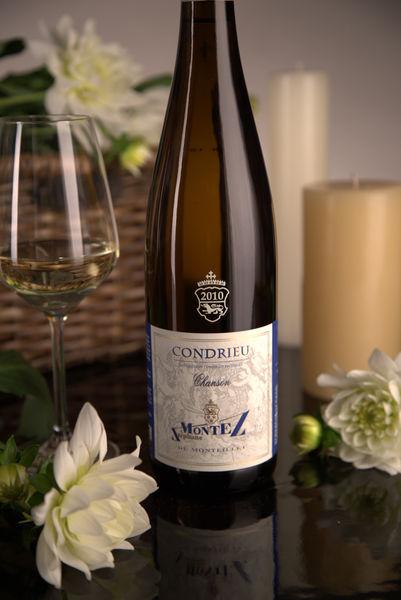 French White Rhone Wine, Domaine du Monteillet 2010 Condrieu Chanson