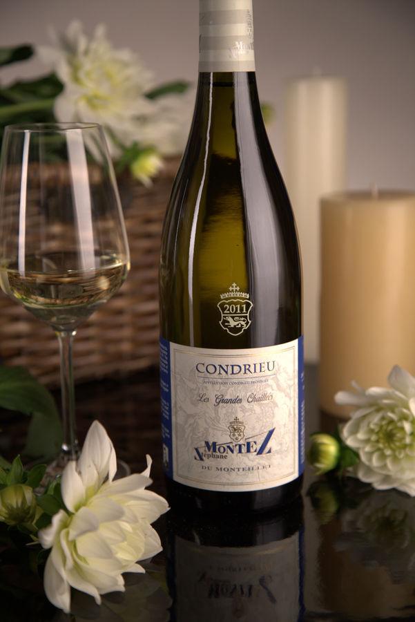 French White Rhone Wine, Domaine du Monteillet 2011 Condrieu Les Grandes Chaillées
