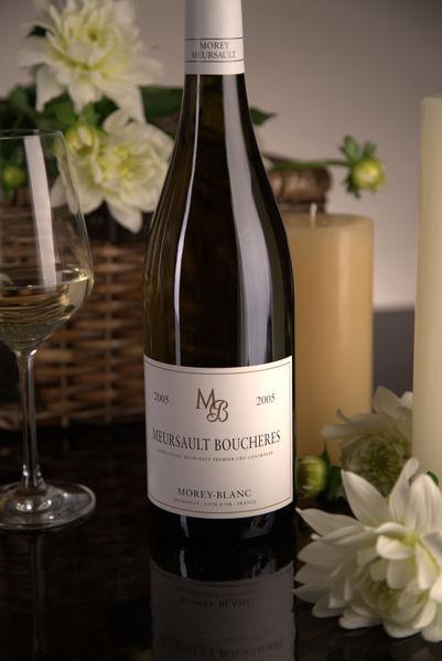 French White Burgundy Wine, Maison Morey-Blanc 2005 Meursault Premier Cru Boucheres