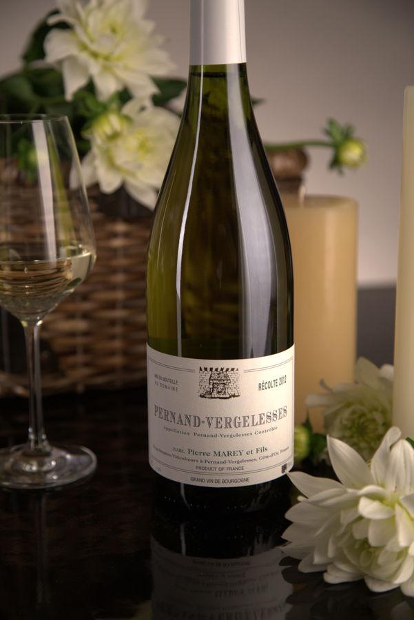 French White Burgundy Wine, Domaine Pierre Marey et Fils 2012 Pernand-Vergelesses