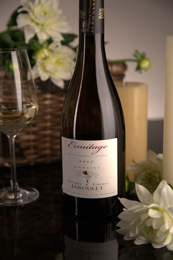 French White Rhone Wine, Domaine Philippe & Vincent Jaboulet 2007 Ermitage