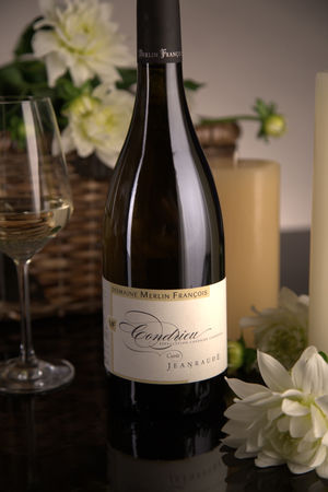 French White Rhone Wine, Domaine François Merlin 2011 Condrieu Cuvée Jeanraude