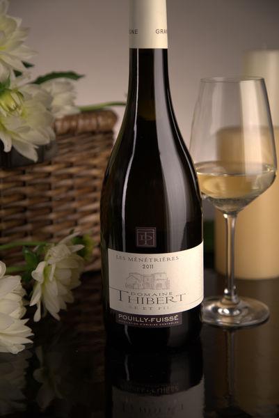 French White Burgundy Wine, Domaine Thibert Père et Fils 2011 Pouilly-Fuissé Les Ménétrières