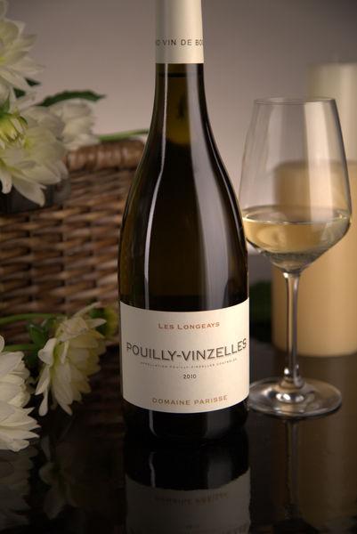 French White Burgundy Wine, Domaine Thibert Père et Fils 2010 Pouilly-Vinzelles Les Longeays